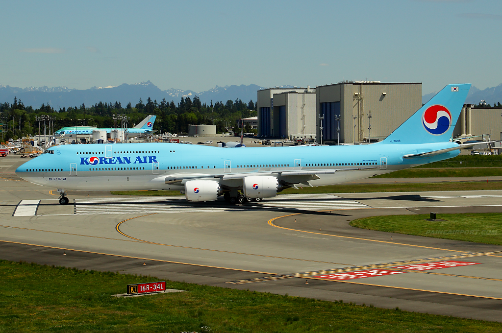 Korean Air 747-8i HL7638 at Paine Airport