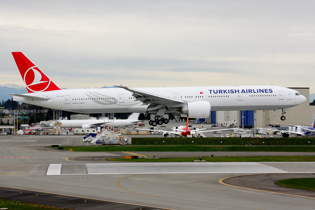 Turkish Airlines 777 TC-JJY at Paine Field