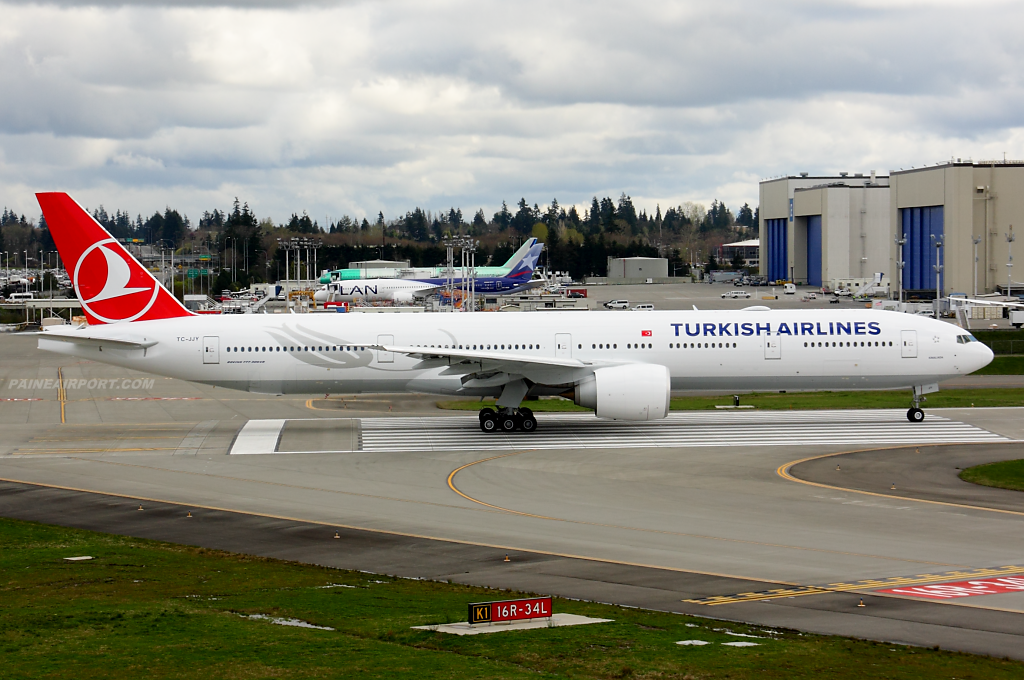 Turkish Airlines 777 TC-JJV at Paine Field