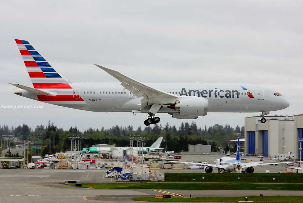 American Airlines 787-8 N805AN at Paine Airport