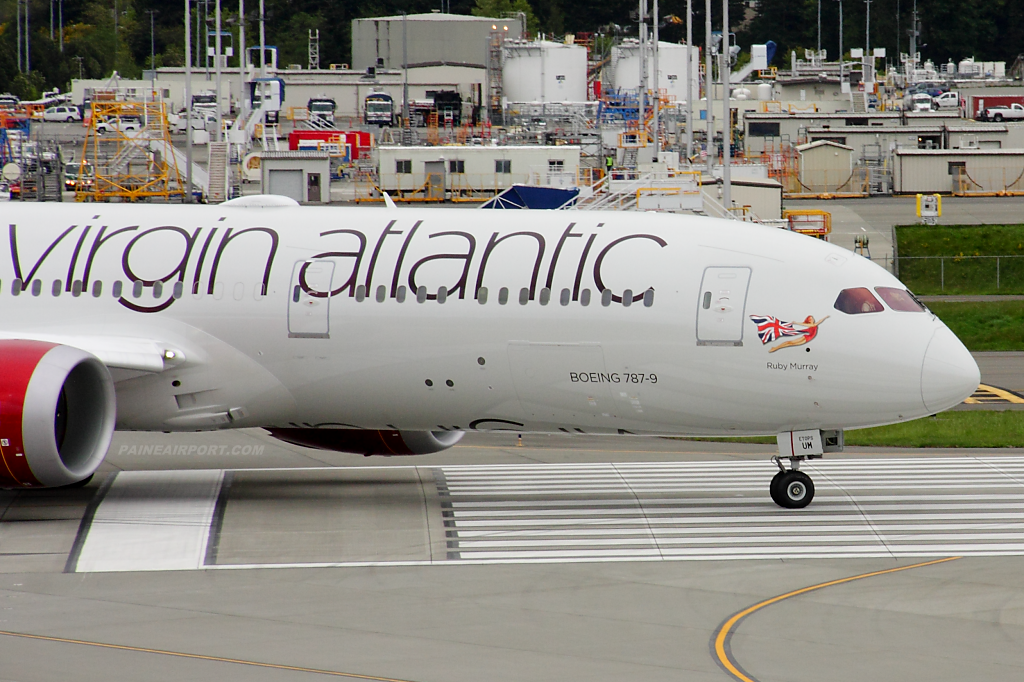 Virgin Atlantic 787-9 G-VYUM at Paine Airport