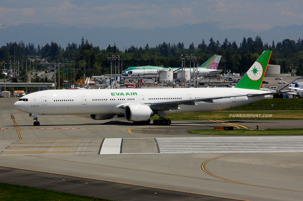 EVA Air 777 B-16722 at Paine Airport