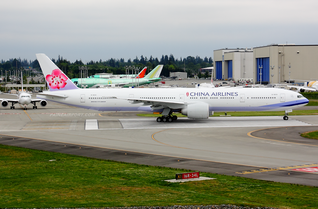 China Airlines 777 B-18001 at Paine Airport