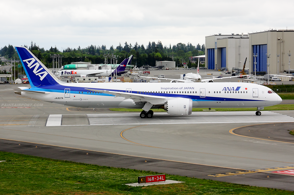 ANA 787-9 JA837A at Paine Airport