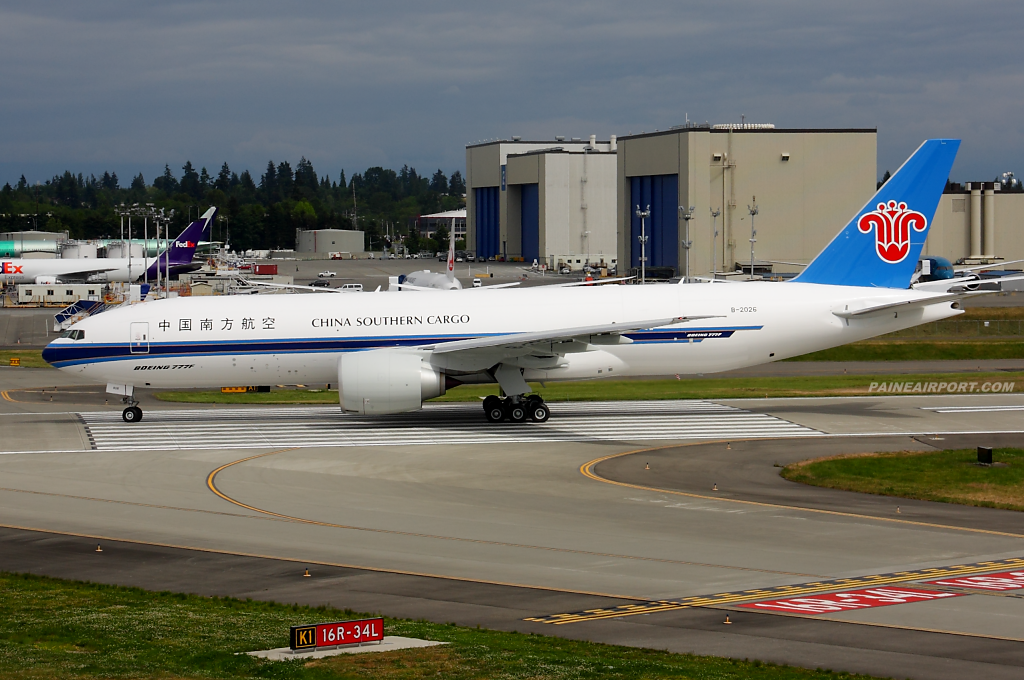 China Southern Cargo 777F B-2026 at Paine Airport