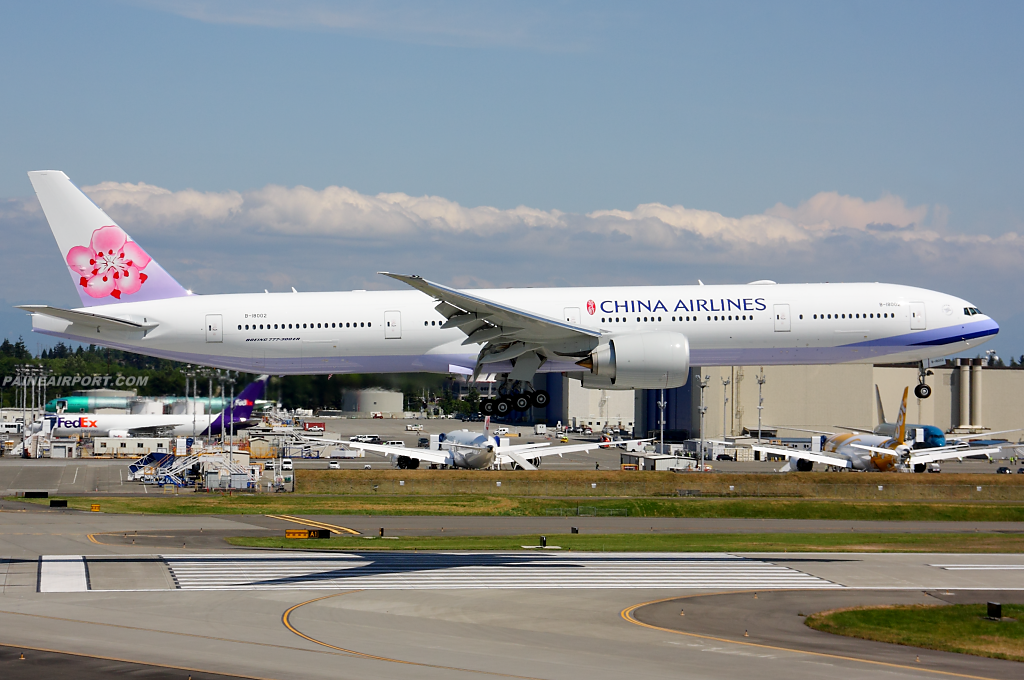 China Airlines 777 B-18002 at Paine Airport