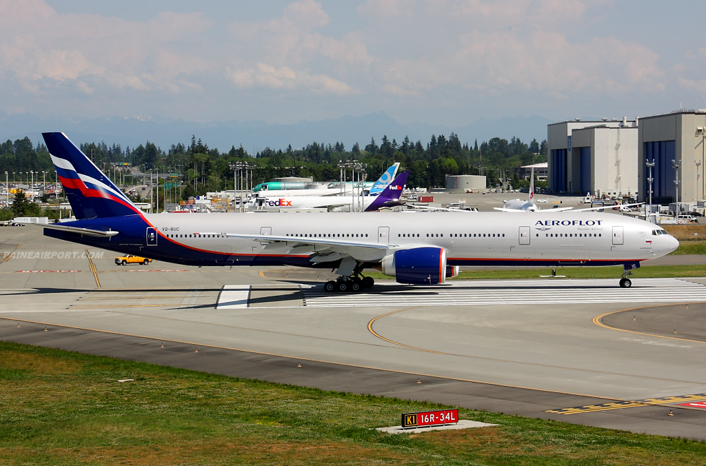 Aeroflot 777 VQ-BUC at Paine Airport