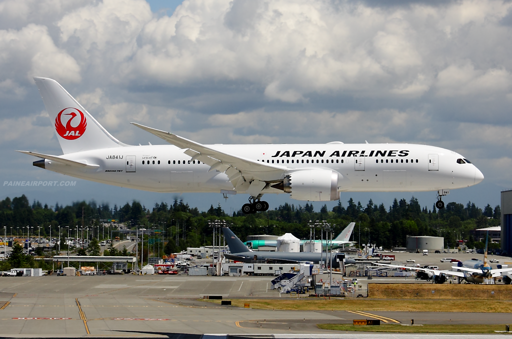 Japan Airlines 787-8 JA841J at Paine Airport