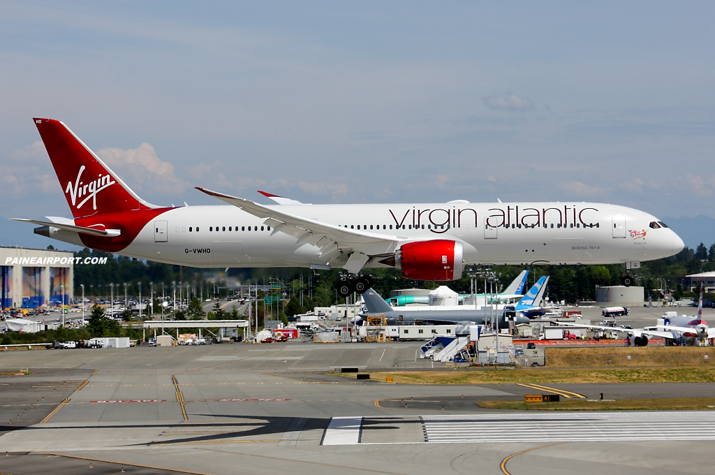 Virgin Atlantic 787-9 G-VWHO at Paine Airport
