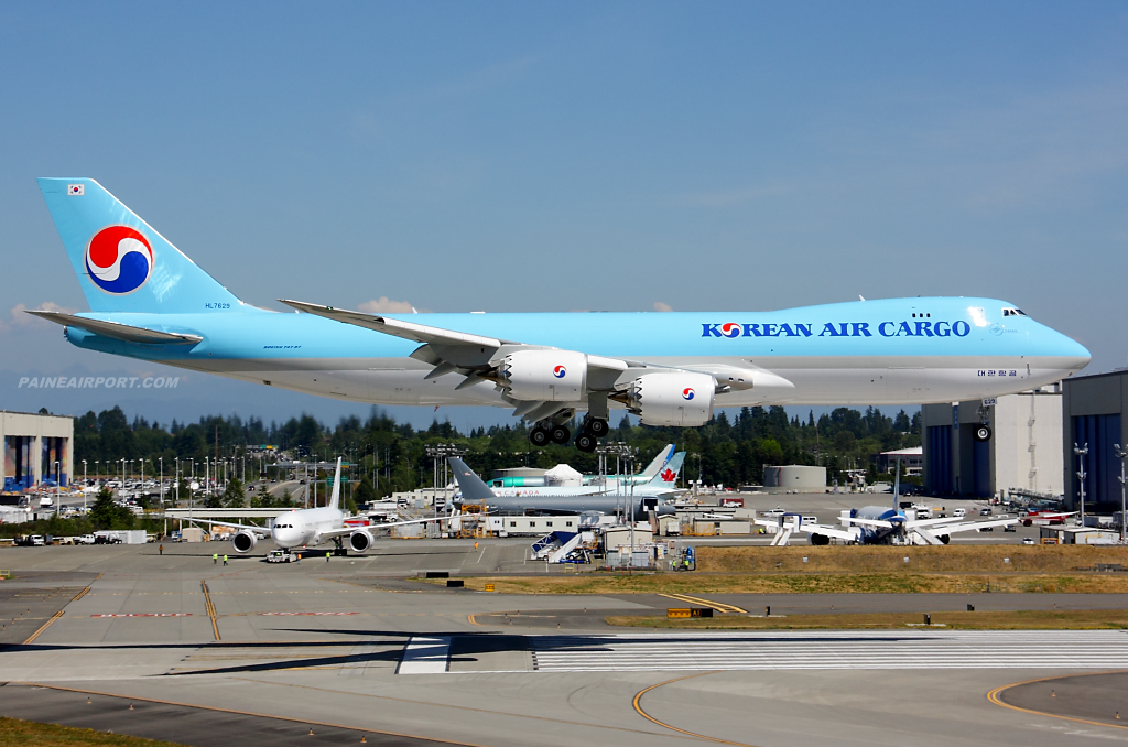 Korean Air Cargo 747-8F HL7629 at Paine Airport