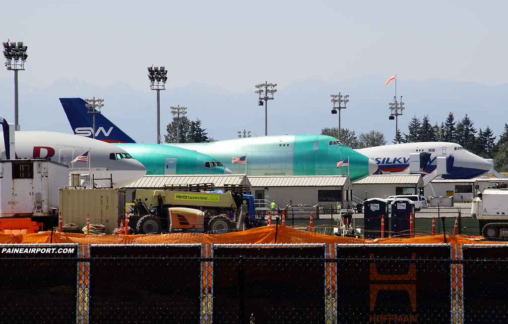 Silk Way Airlines 747-8F VQ-BWY at Paine Airport
