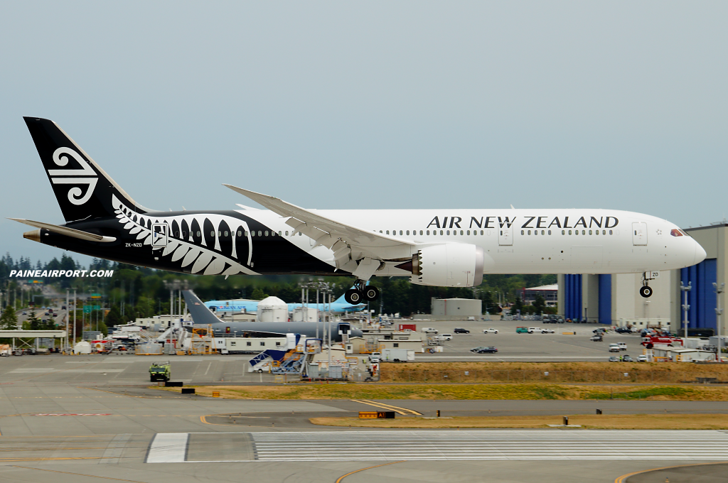 Air New Zealand 787-9 ZK-NZD at Paine Airport