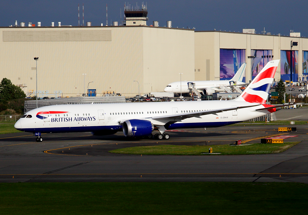 British Airways 787-9 G-ZBKB at Paine Airport