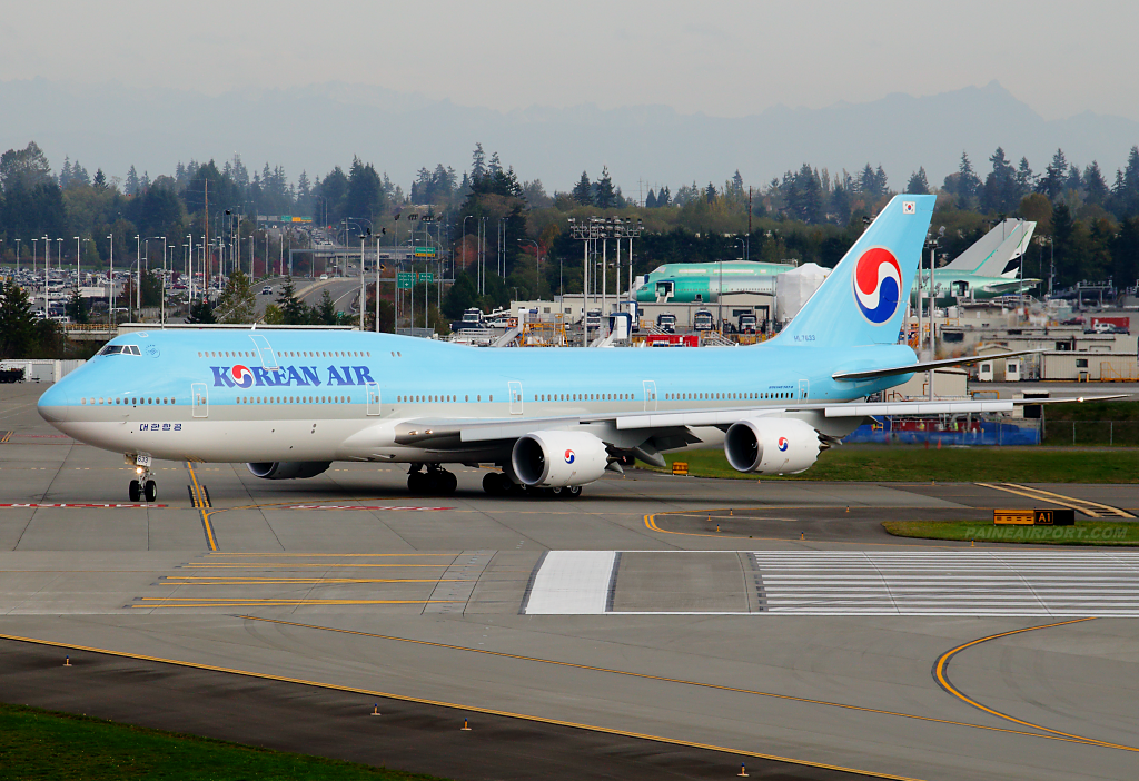 Korean Air 747-8i HL7633 at Paine Airport