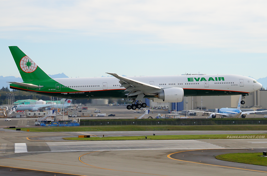 EVA Air 777 B-16725 at Paine Airport