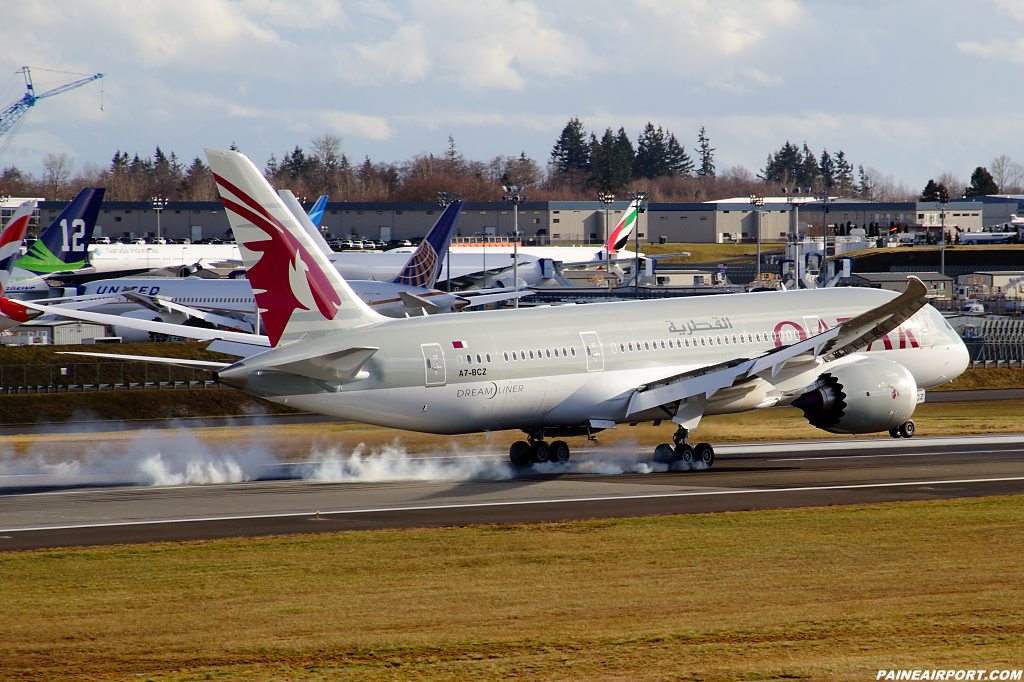 Qatar Airways 787-8 A7-BCZ at Paine Airport