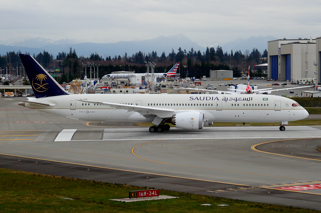 Saudia 787-9 HZ-ARC at Paine Airport
