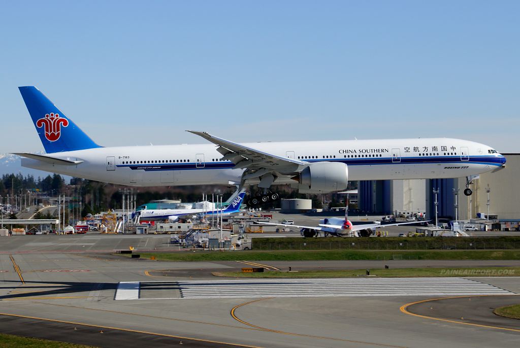 China Southern 777 B-7183 at Paine Airport
