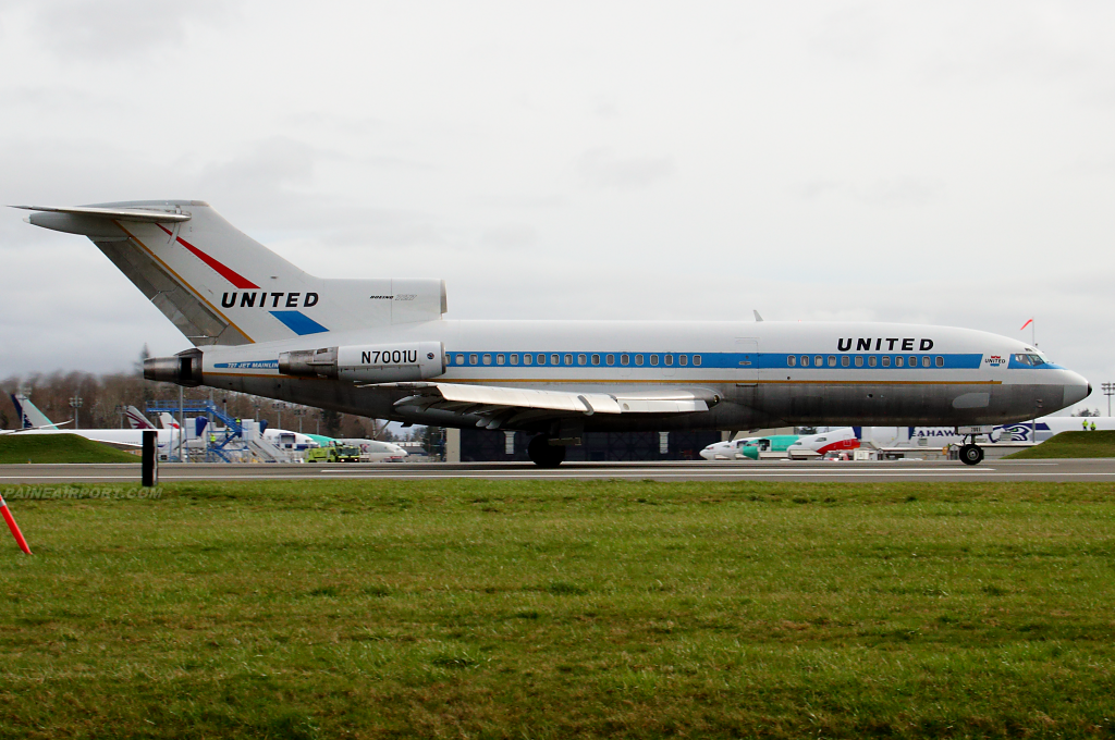 Museum of Flight's 727 N7001U at Paine Airport