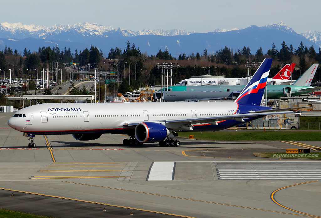 Aeroflot 777 VQ-BQM at Paine Airport