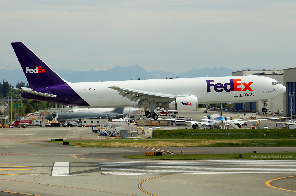 FedEx 767 N134FE at Paine Airport