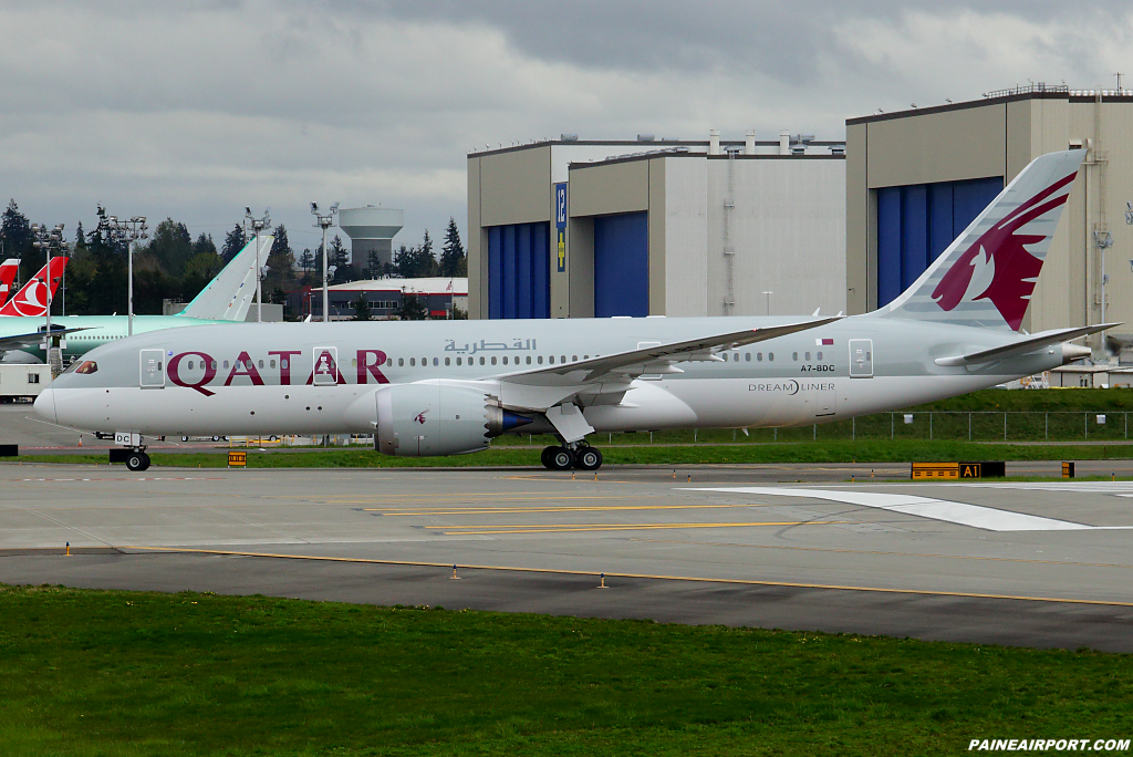Qatar Airways 787-8 A7-BDC at Paine Airport