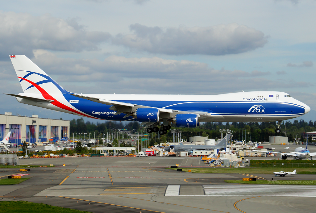 CargoLogicAir 747-8F N841BA at Paine Airport