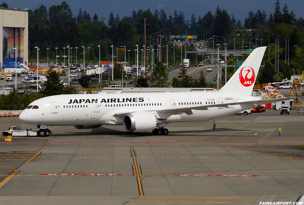 Japan Airlines 787 JA844J at Paine Airport