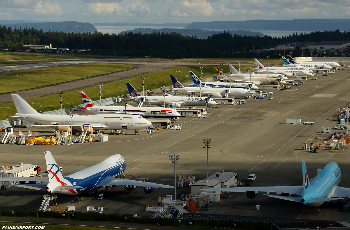 Boeing flightline at Paine Airport