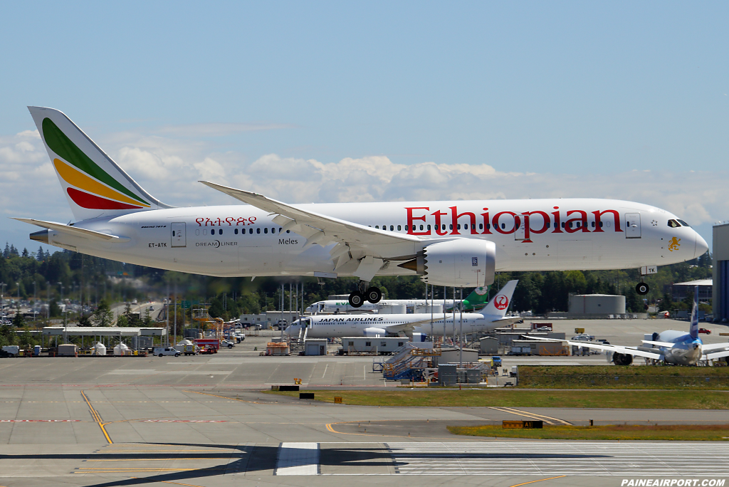 Ethiopian Airlines 787-8 ET-ATK at Paine Airport