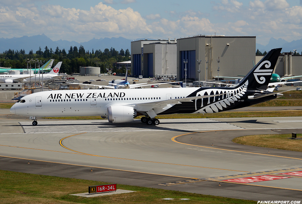 Air New Zealand 787-9 ZK-NZI at Paine Airport