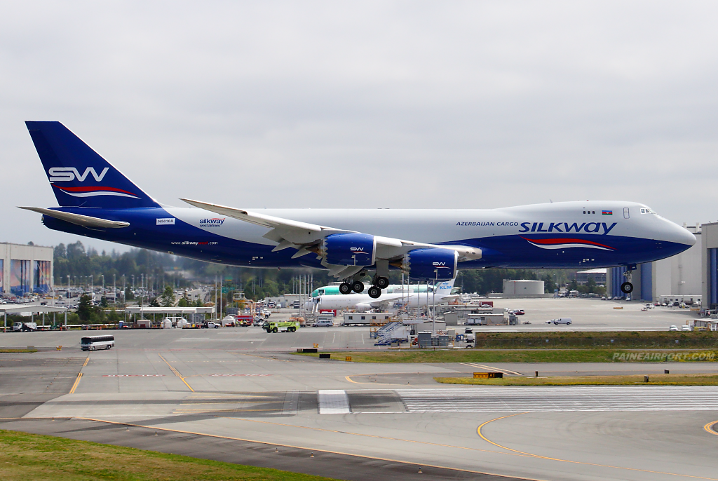 Silk Way West 747-8F VQ-BBH at Paine Airport