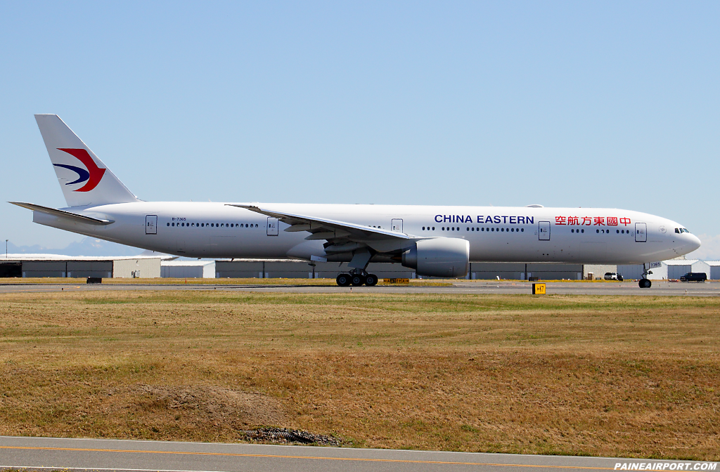 China Eastern 777 B-7365 at Paine Airport
