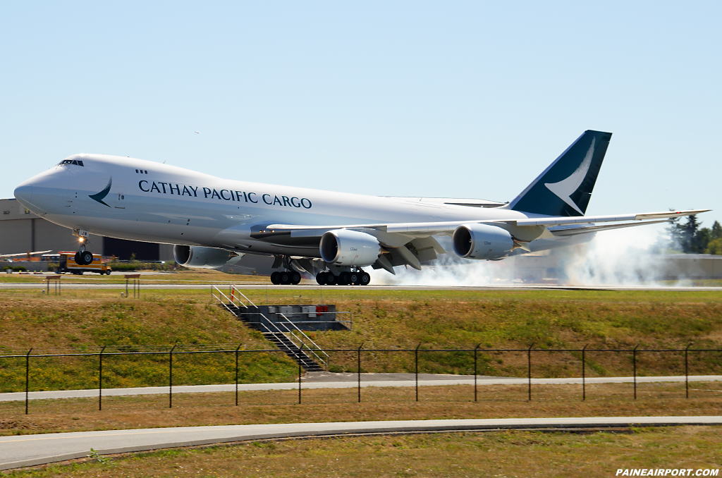 Cathay Pacific Cargo 747-8F B-LJN at Paine Airport