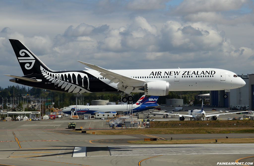 Air New Zealand 787-9 ZK-NZJ at Paine Airport