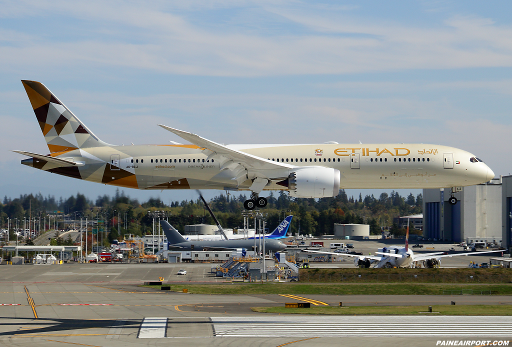 Etihad Airways 787-9 A6-BLJ at Paine Airport