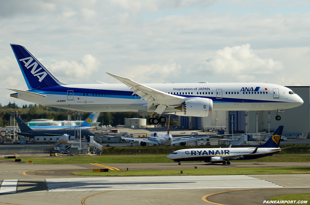 ANA 787-9 JA886A at Paine Airport