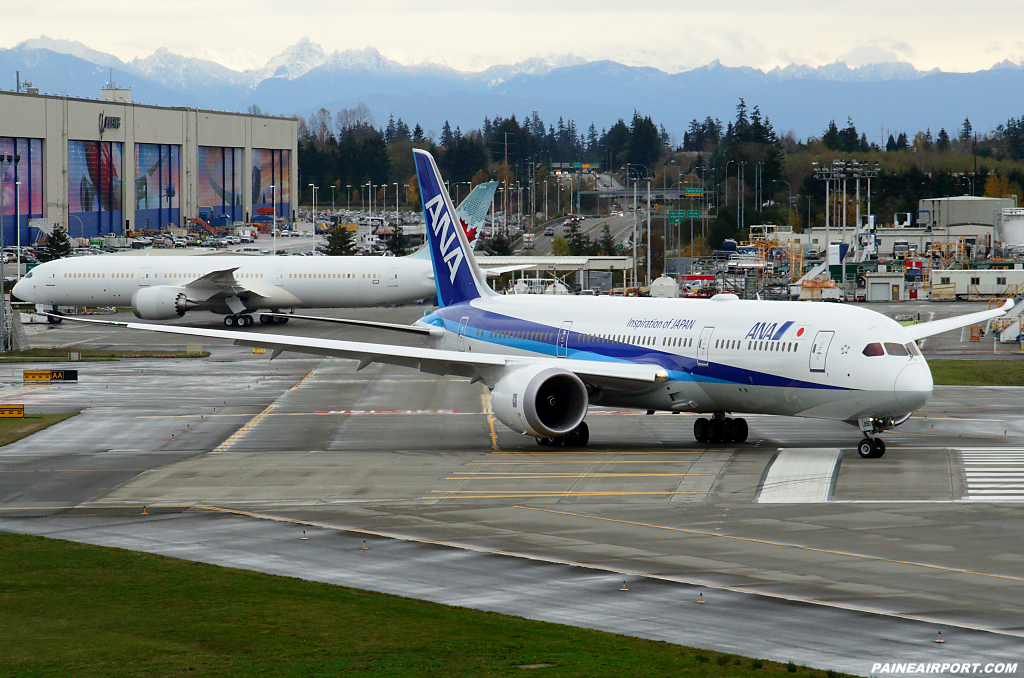 ANA 787-9 JA890A at Paine Airport
